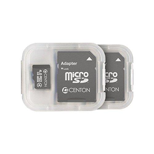 Centon Electronics Class 4, 4GB Micro SDHC Card (S1-MSDHC4-4G2PK) from Centon