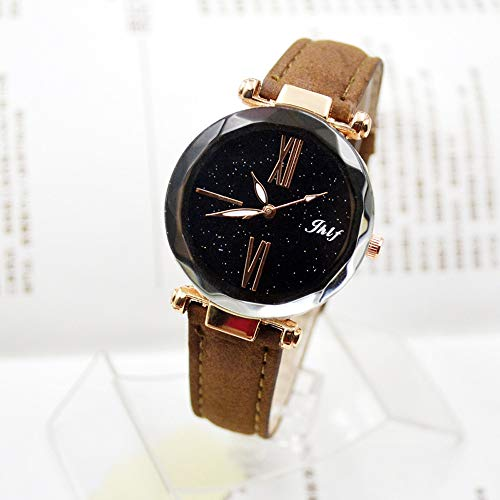 Pocciol 2019 Luxury Watch Womens Casual Watch with Leather Strap Band Analog Quartz Starry Sky Wristwatch for Ladies (Brown) by Pocciol Cheap-Nice Watch (Image #1)