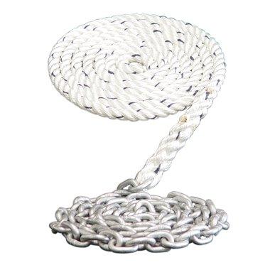 100 Dark Horse Marine Windlass Anchor Rode 9//16 3 Strand Nylon Spliced to 15-5//16 Galvanized Chain