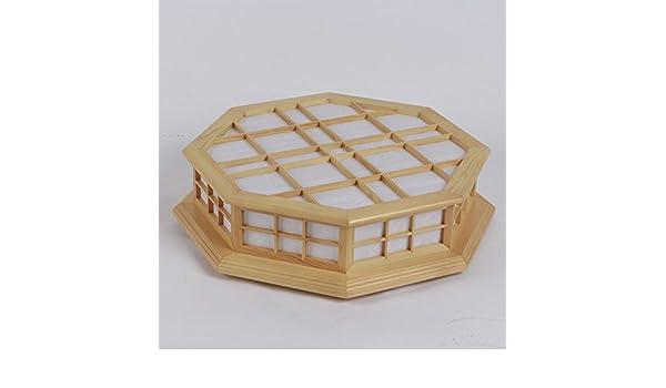Shoji cuadrícula de madera lámpara lámpara Lámpara de techo japonés Shoji panelado de madera dormitorio lámparas de techo,anís de registro: Amazon.es: Iluminación