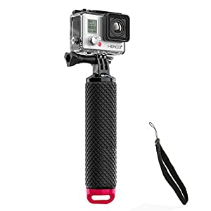 Mystery Waterproof Floating Hand Grip, Underwater Selfie Stick for Gopro Hero Session, Pro Cameras Float Handle, Scuba/Diving Action Camera Accessories (Pink)