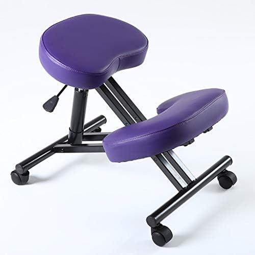人間工学的のひざまずく椅子、家およびオフィスのための調節可能な腰掛けの背部および首の苦痛、姿勢の改善 (Color : #1)