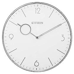 Citizen Clocks Citizen CC2038 Gallery Wall Clock, Silver-Tone