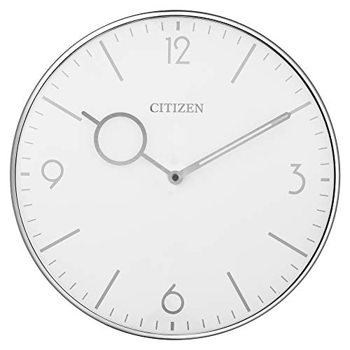 Citizen Clocks Citizen CC2038 Gallery Wall Clock, Silver-Tone (Citizen Wall Clock)