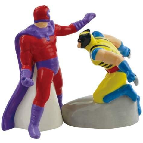 Westland Giftware Wolverine vs. Magneto Ceramic Salt and Pepper Shaker Set, 4.25-Inch ()