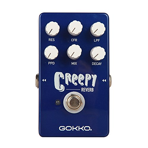 GOKKO AUDIO GK-26 Creepy Reverb Guitar Effect Pedal with 6 Modes
