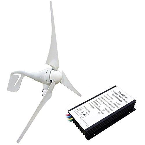 ECO-WORTHY 400W Wind Turbine 12V / 24V Generator + 20A Charge Controller...