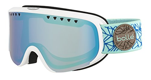 Bolle Scarlett Matte Diamond Aurora Googles, White/Blue, One - Scarlett Goggles Bolle