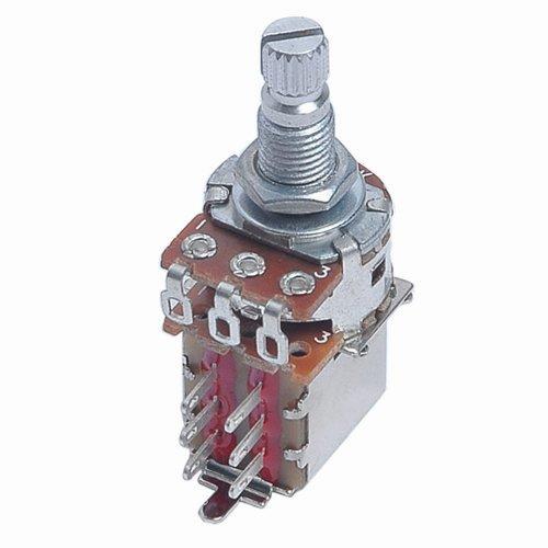Kmise A0379 A500k Push Pull Guitar Control Pot Potentiometer Chrome