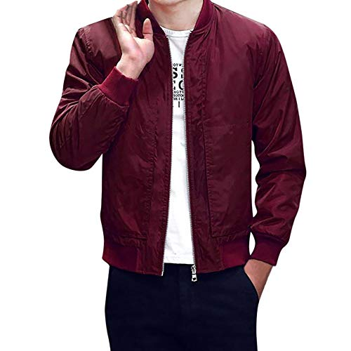GoodLock Men's Fashion Slim Fit Zipper Coats Casual