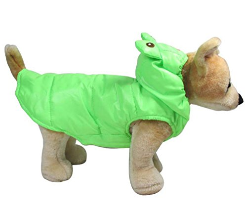 PEGASUS SELMAI Frog Dog Costume Trench Coat Dog Hoodie Costume Windproof Small Dog Clothes M -