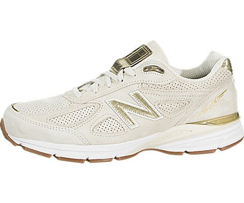 New Balance Men's 990v4 Running Shoe, Angora/Angora, 10.5 D US