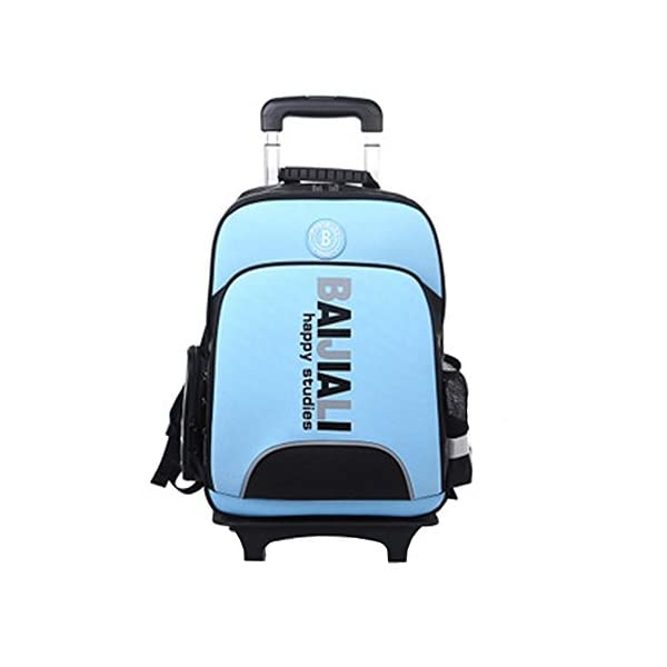 YAAGLE Unisex Telescopic Handle Oxford Fabric Grade 3 to 6 Leisure Kids Students Sports Travel Shopping Backpack Blue/ Red/ Green/Orange - luggage