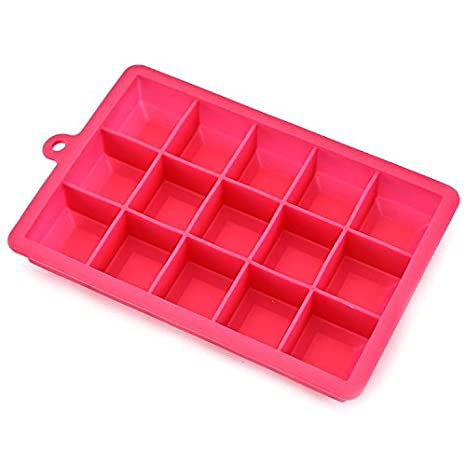 Ice Hockey Mould, 15 Grid Silicone ice Mold Ice Maker Kitchen Utensils Silicone Mold Creative ice Tray Refrigerated Frozen Storage Box (Color : 3)