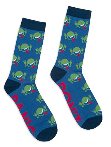 Out of Print Unisex The Hitchhiker's Guide the the Galaxy Socks Small Blue
