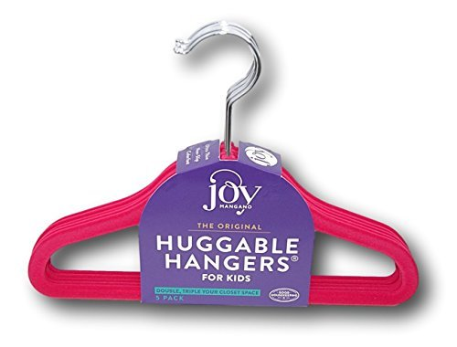 Joy Mangano Huggable Hangers Kids - Set of 5 (Hot Pink) by Joy Mangano