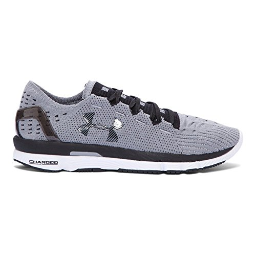 Under Armour Women's UA Speedform Slingshot Running Shoes (10 B(M) US, Steel/Black/White)