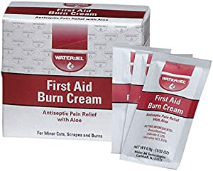 First Aid Burn Cream, Antiseptic Burn Relief, 0.9 gm Packets, 25 Pack