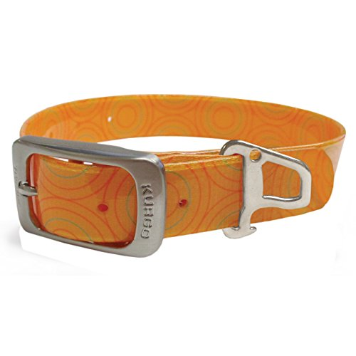Kurgo Orange Circles Waterproof Collar
