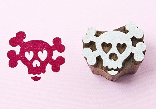 Blockwallah Sweet Skeleton Wooden Block (Skeleton Carving Art)
