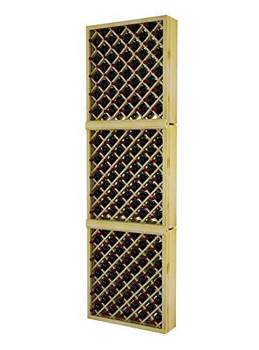 (Winemaker Series Wine Rack -Individual Diamond Bin - 9 Ft - Pine Unstained)