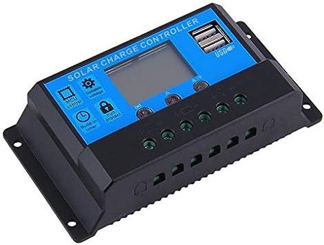 Opinión sobre Caliente Selling20A 12/24 V interruptor auto solar carga controlador LED pantalla 2 puertos USB durable