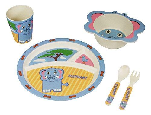 EcoBamboo Ware Kids Bamboo Dinnerware Set with Tumbler, E...
