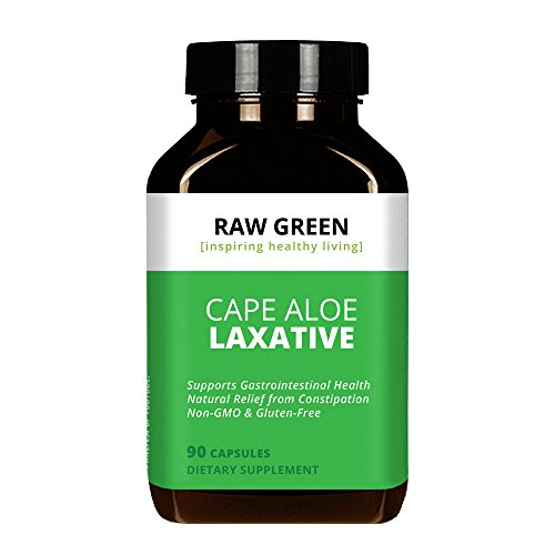 Raw Green Organics - RawJuvenate - Super Aloe - Gastrointestinal Support - 90 Plant Capsules (Plant Aloe Vera Green)