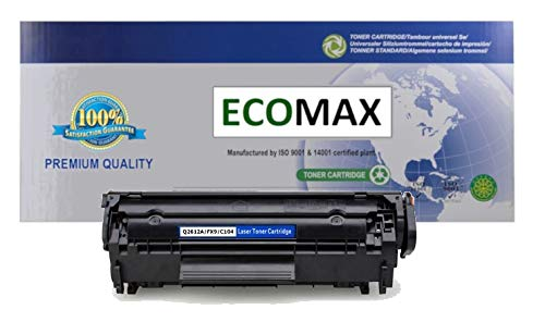 ECOMAX Premium CRG104, FX9, FX10 Compatible Black Toner Cartridge, Replacement Use In FAX L90 L120, imageCLASS D420 D480 MF4150 4270 4350D 4370DN 4670DN 4690, i-SENSYS 4120 4140 4150 MF4130 6750