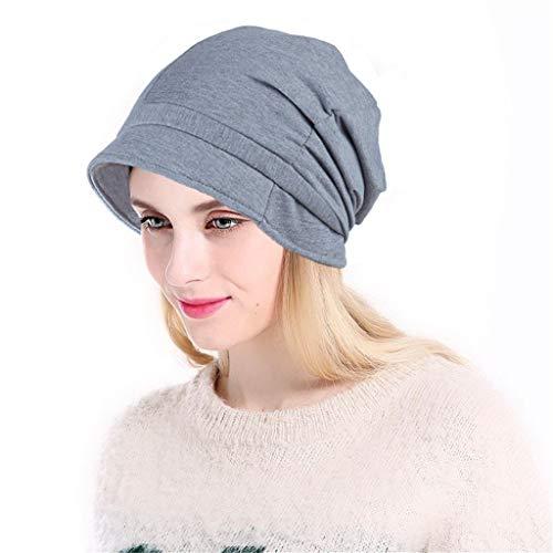 hositor Hat Women, Women Soild India Muslim Stretch Turban Hat Knitting Hair Loss Head Scarf ()