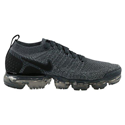 Nike Hommes Air Vapormax Flyknit 2 Chaussures De Sport, Noir, Blanc, Gris, Multicolores (gris Fonc