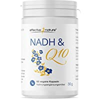 effective nature NADH & Q10 - Coenzyme bei der Energiegewinnung NADH (20mg) Q10 (100mg) - 60 Kapseln