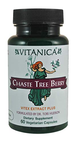 - Vitanica, Chaste Tree Berry, Vitex Extract Plus, Vegan, 60 Capsules