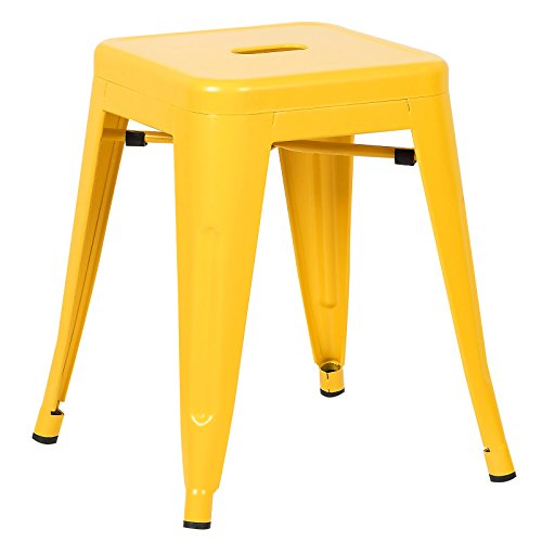 Poly and Bark Trattoria 18″ Stool in Yellow For Sale