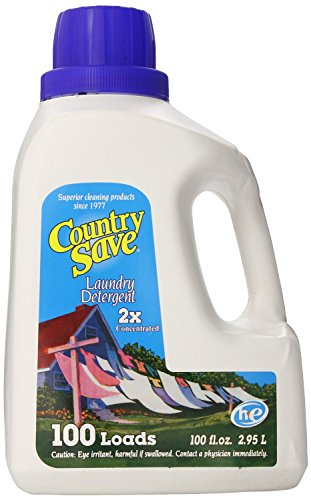 Detergent Powdered Save Country - Country Save Liquid Laundry Detergent 100-Load 100 Ounce Bottles (Pack of 4)