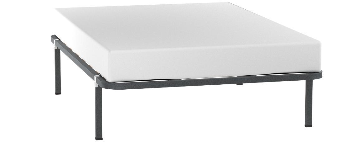 Bonitex Somier de 135x190cm + 4 Patas cuadradas de Tubo Acero 30x30MM, Refuerzo Central, Laminas de CHOPO y Pintura Metalizada anticorrosión.