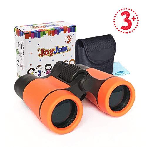 Joyjam Binoculars for Kids, Shock Proof Children Telescope, Christmas Thanksgiving Gifts for 6-7 Year Old Boy, 4-6 Year Old Boy Toys Party Favors for Kids (Orange)