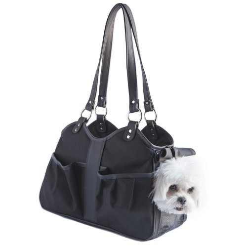 Petote Metro Classic Dog Carrier, Black Sable, Small by Petote