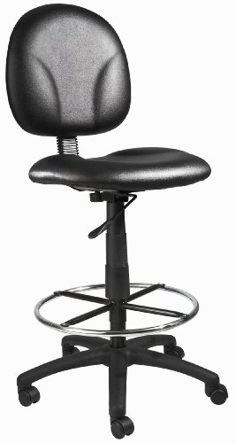 27 Stools Drafting (Boss Office Products B1690-CS Stand Up Caressoft Drafting Stool without Arms in Black)