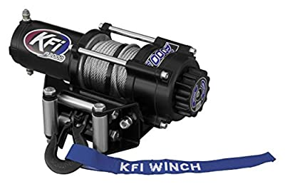 New KFI 2000 lb ATV/UTV Winch & Model Specific Mounting Bracket - 2011-2017 Polaris Sportsman Big Boss 500 6x6