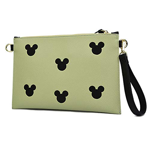 for Leather With Wristlet Clutch Large Printed Women Genuine Grey Designer Strap Wallets Dark tqwBA1wW