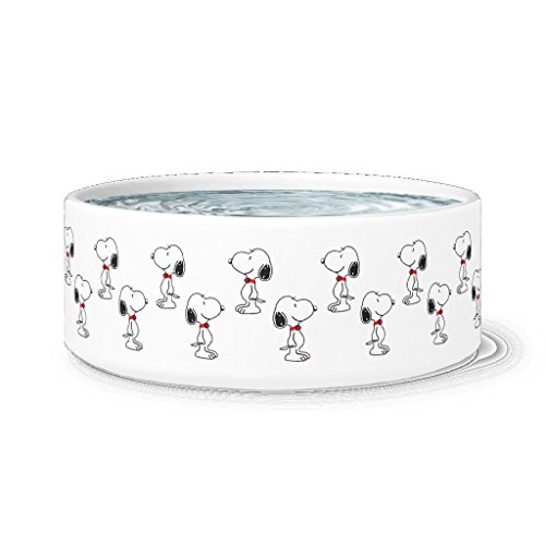 Awesome eMERCHency Snoopy Dog Bowl Funny Snoopy Pattern Pet Bowl 7.5