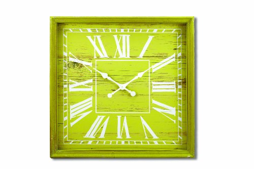 Foreside Wooden Wall Clock, X-Large, Chartreuse