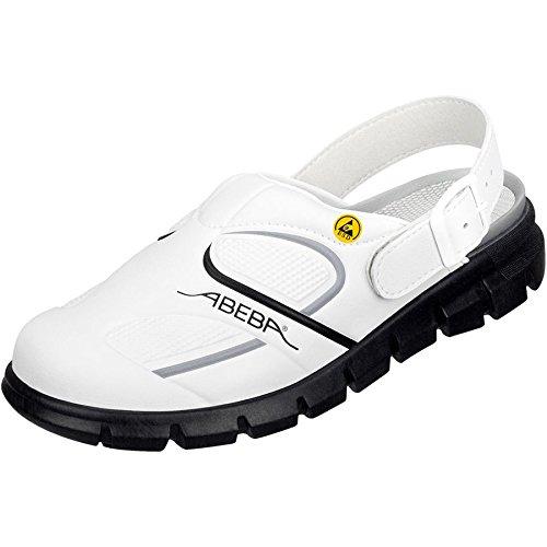 """Abeba 37335-47 talla 47 """"dinámicas"""" ESD-ocupacional-solución - Zapato blanco/negro"""