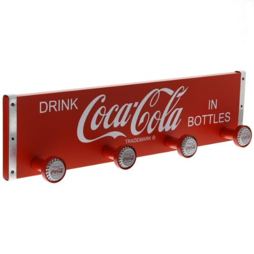 Retro Collectible Coke Coca Cola Wooden Crate Coat Rack W Bottle Cap Hangers By Sunbelt Gifts