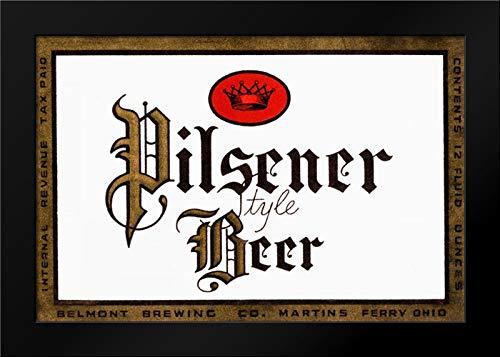 (Pilsener Style Beer Framed Art Print by Vintage Booze Labels)