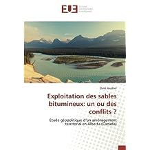 Exploitation des sables bitumineux: un ou des conflits ?: Etude géopolitique d'un aménagement territorial en Alberta (Canada)
