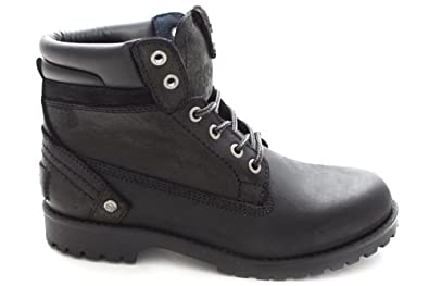 dcdebf5942e L1938A Wrangler Womens Black Leather Lace Up Worker Ankle Winter ...