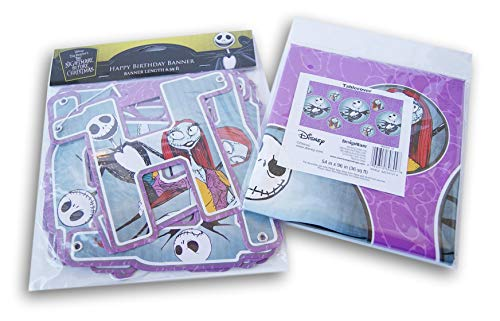Nightmare Before Christmas Birthday Party Supply Kit - Table Cover and Jointed Banner -