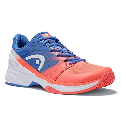 HEAD Women`s Sprint Pro 2.0 Tennis Shoes Marine and Coral-(726424583720)
